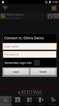 Ethiris Mobile printscreen